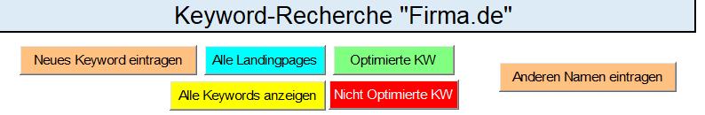 Excel Vorlage SEO-Rec Button Anordnung